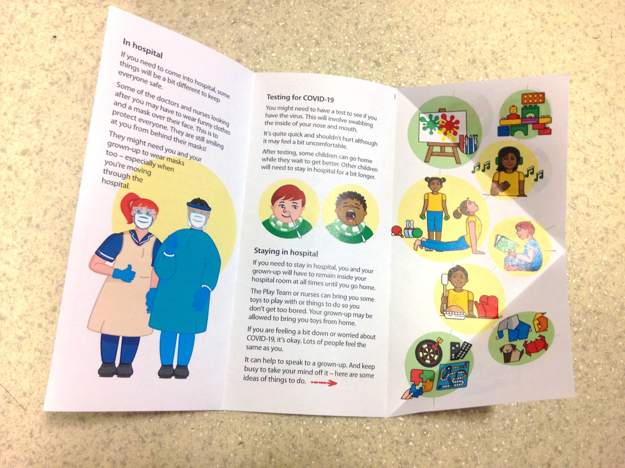 COVID-19 leaflet for young children