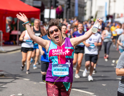 Barts Charity runner in Asics 10k