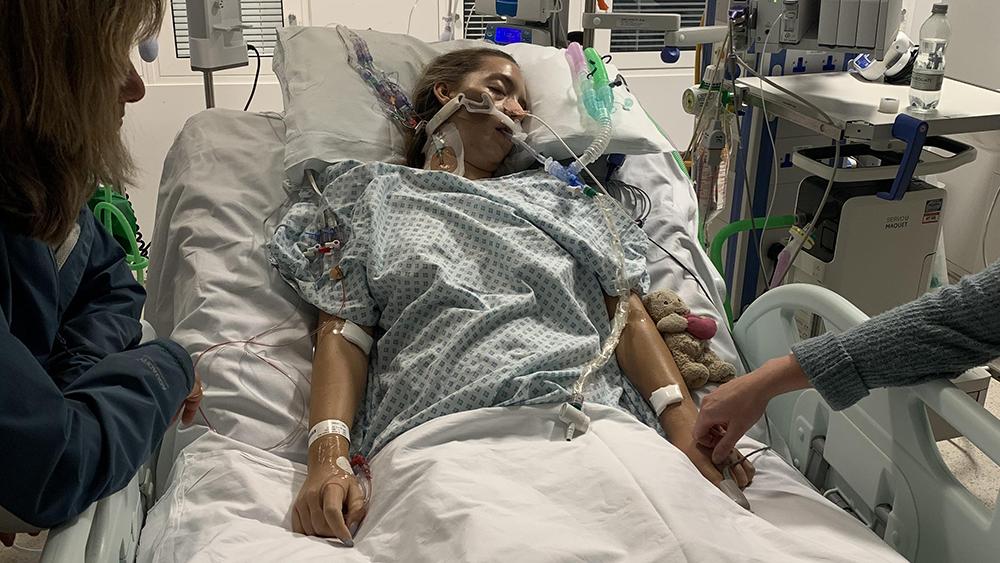 Beth in hospital