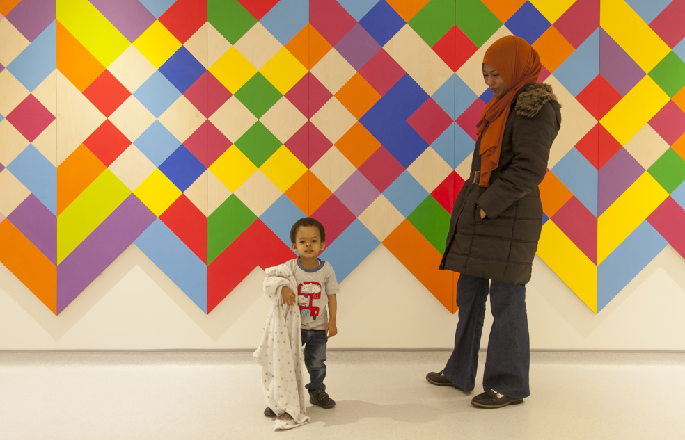 Mother and child in the Rainbow Centre, funded by Barts Charity