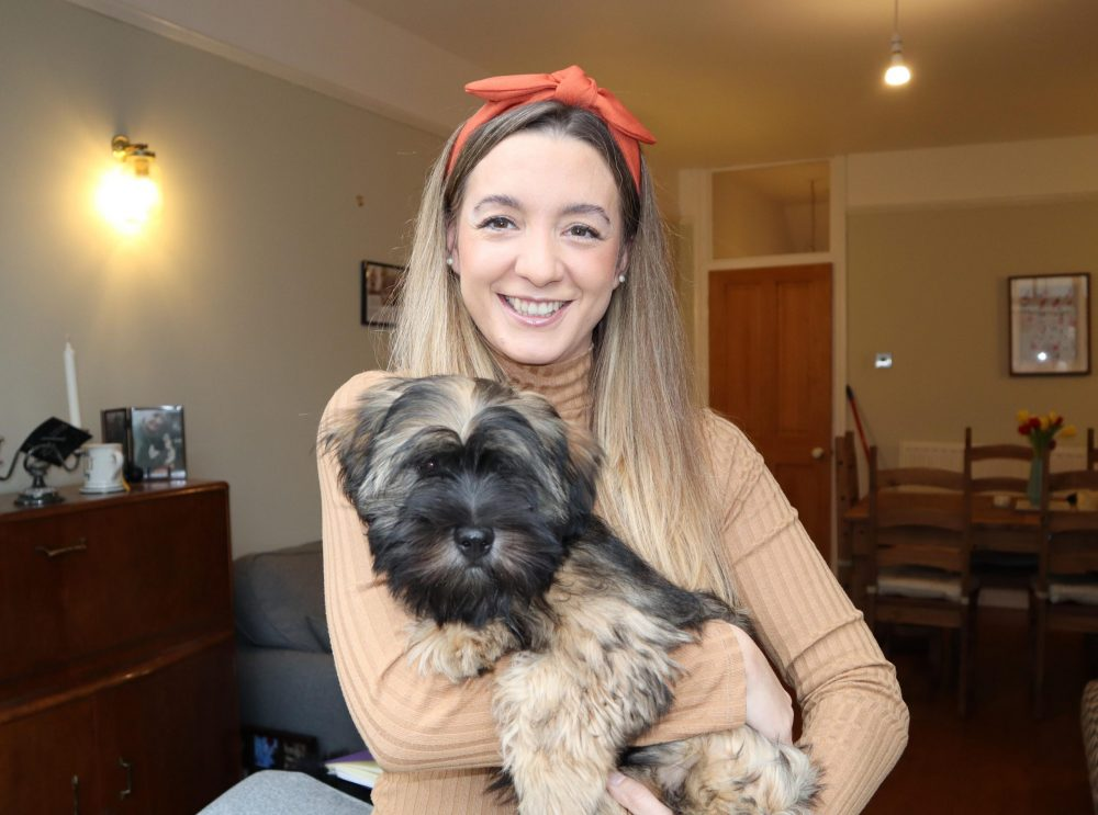 Beth with Bart the dog