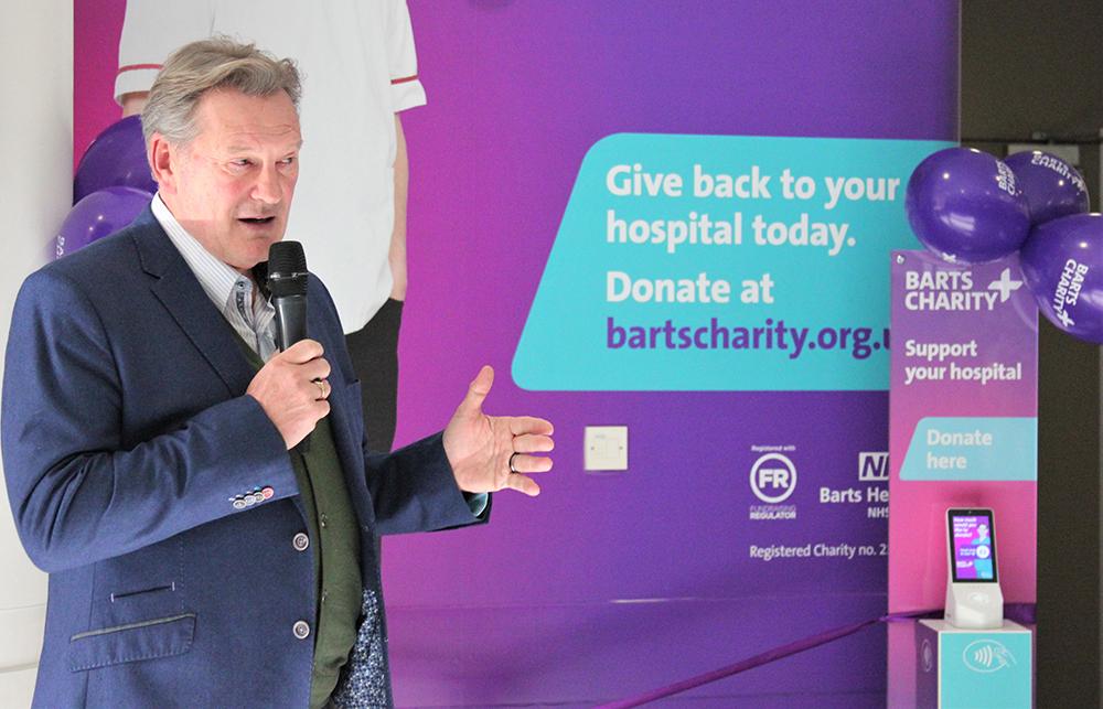 Glenn Hoddle at St Bartholomew's Hospital fundraising launch
