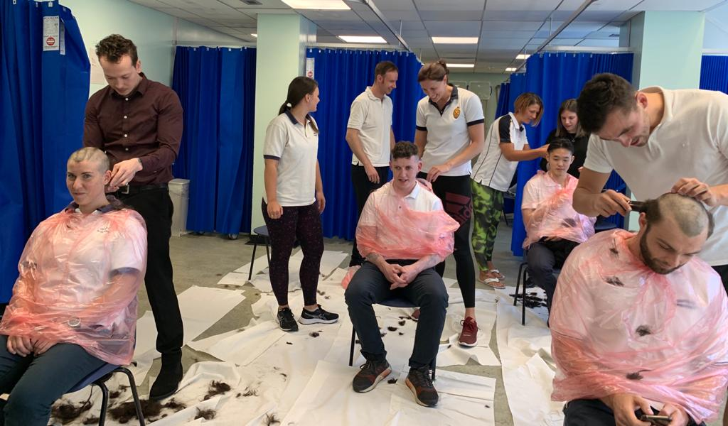 Whipps Cross Hospital staff shave their heads to raise money for Barts Charity