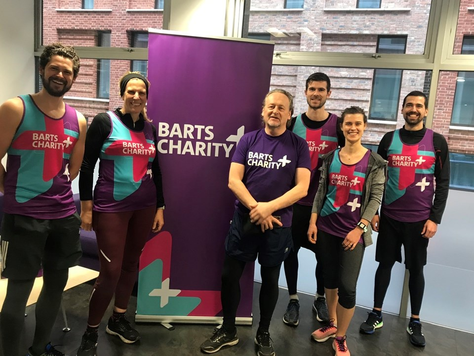 Group of Barts Charity runners