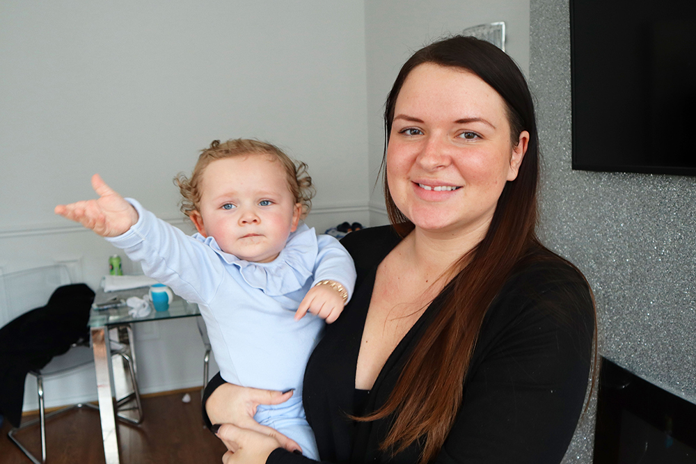 Child born at The Royal London, prompting mother, Brooke, to skydive for Barts Charity
