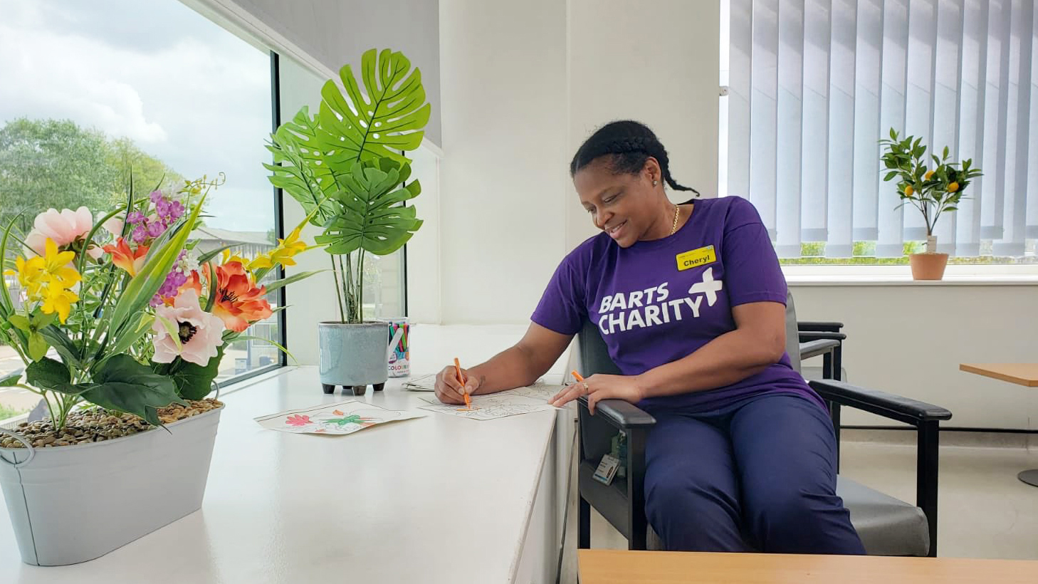 Wellbeing space at Newham Hospital funded by Barts Charity