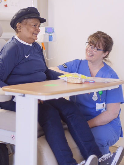 Barts nurse talking to patient