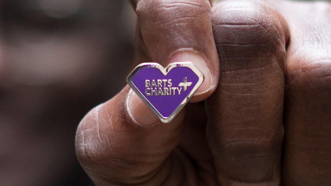 Barts Charity badge close up