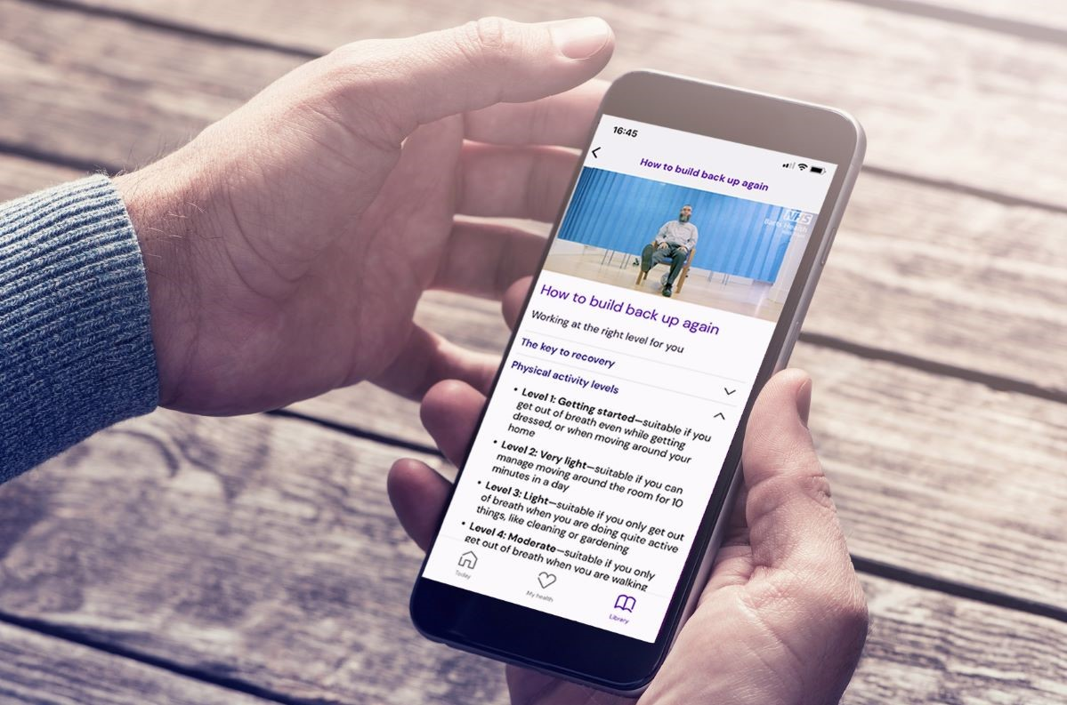 Covid patients helped to recover with extra therapy and smartphone symptoms app