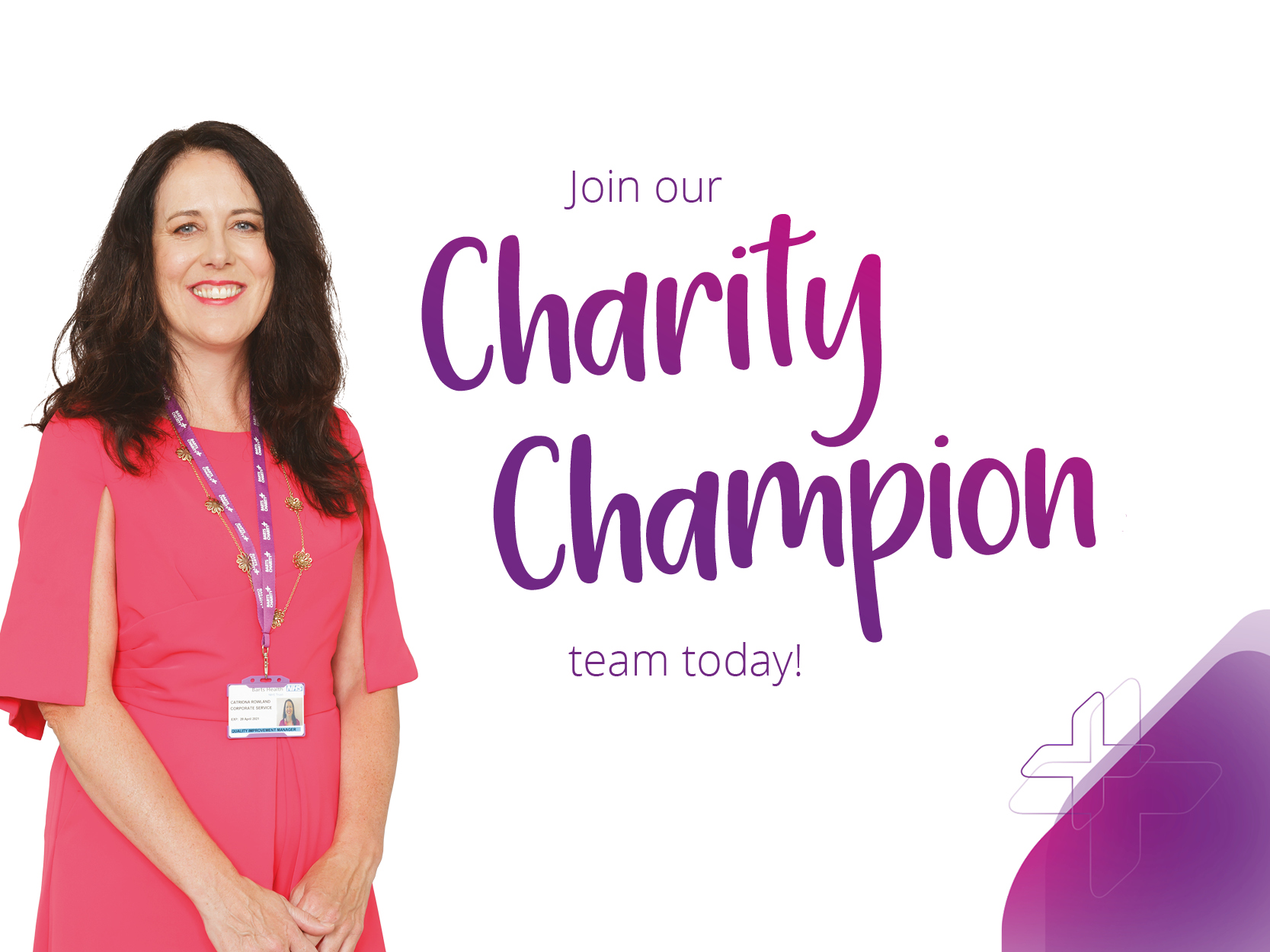 Join our charity champion team today